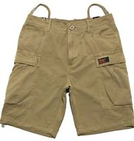 Superdry Mens Core Cargo Shorts Colour Sand Surplus Stock 31W 32W, 33W, 34W, 36W