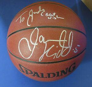 JASON KIDD SIGNED BASKETBALL ~ NJ NETS / DALLAS MAVERICKS ~ JSA KK24705