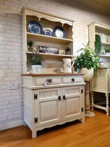 Stunning Solid Oak Old Charm Dresser Sideboard Cupboard Cabinet Shabby Chic F+B