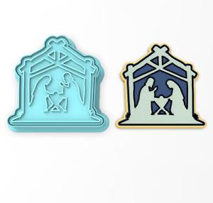 Christmas Nativity Cookie Cutter & Stamp   Bethlehem Xmas Mary Jesus Joseph Holy