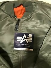 G.I. USAF MA-1 Green Flyers Jacket By Alpha Industries, Made In USA