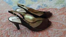 Gianni Bini High-Medium Heels Pumps PEEP-TOE Shoes SIZE 9 Cordova/Brown womens