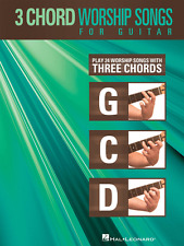 """3 CHORD WORSHIP SONGS FOR GUITAR"" 24 WORSHIP SONGS WITH 3 CHORDS MUSIC BOOK-NEW"