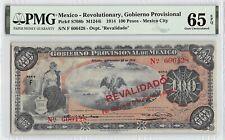 Mexico, Gobierno Provisional 1914 P-S708b PMG Gem UNC 65 EPQ 100 Pesos