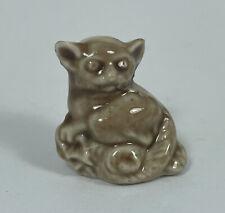 New ListingWade of England Lemur Monkey Red Rose Tea Miniature Figurines Whimsies