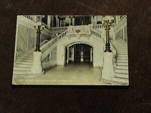 Posted Security Mutual Bldg. Lobby, Binghamton, N.Y. Postcard. Has 1 cent stamp.
