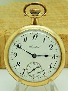 Antique Hamilton Grade 974 17 Jewel 16 size 20 year 10K gold filled Pocket Watch