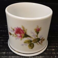 "Bond Fine China Pompadour Rose Jelly Jar Toothpick Holder 2 5/8"" L & M Excellent"