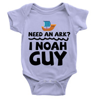 I Noah Guy Babygrow Funny Joke Ark Animals Body Suit Gift New Baby Present