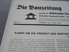 1936 Bauzeitung 13 / München Bogenhausen Alt Harlaching Solln Rottach