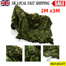 3m X 2m Woodland Camouflage Net Camo Netting Camping Shooting Hunting Hide Army