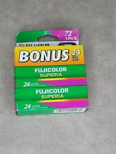 3 x Fuji SUPERIA 200 ISO 200 110 COLOR NEGATIVE FILM 24, PLUS Camera!, Sh A