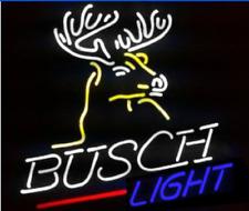"""Rare New Busch Light Deer Beer Bar Pub Neon Light Sign 20""""x16"""""""