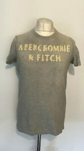 Abercrombie & Fitch Men's T Shirt Grey Medium Short Sleeve 100% Cotton