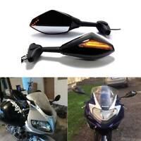For Suzuki GSX250R SV650S GSXR 600 750 Motorcycle LED Turn Signals Side Mirrors