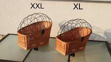 Hundekorb Hundefahrradkorb für Gepäckträger Weidenkorb Fahrradkorb XXl oder XL