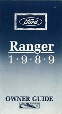 1989 Ford Ranger Owners Manual User Guide Reference Operator Book Fuse Guide OEM