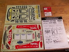 39181-1 Peugeot 206 WRC Decal Set - Kyosho Pure Ten TF-2 TF-3 Mantis Alpha GP-10