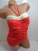 Women's GUESS Triple Threat One Piece Swimsuit Red Size L