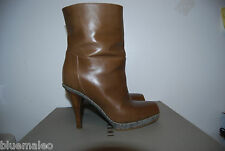 Authentic Marni Open Toe Leather Ankle Boots Size 35