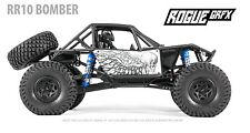 Axial RR10 Bomber Body Graphic Wrap Skin- Outlaw White
