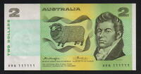 Australia R-86b. (1976) 2 Dollars - Knight/Wheeler..  SOLID Number 111111 - UNC