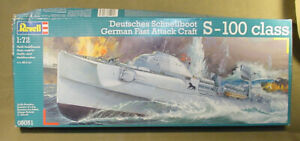 REVELL S-100 CLASS DEUTSCHES SCHNELLBOOT MODEL SHIP KIT 1:72 SCALE