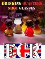 FOUR QUAFFER SHOT PLASTIC GLASSES JAGERBOMB JAGER BEER PONG SLAMMER BOMB PARTY