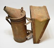 Vintage Dadant & Sons Bee Smoker Bee Hive Equipment Hamilton Ill Leather Bellows