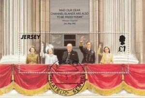 (50683) GB Jersey CTO Used Liberation minisheet 1995