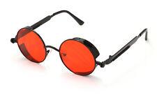 Ro Rox Men's Women's Round Goggles Retro Steampunk Goth Emo Sunglasses Shades