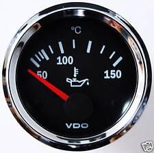 VDO Chrom Öltemperaturanzeige Ölthermometer