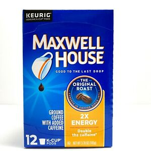 Maxwell House 2X ENERGY (Double Caffeine) K-Cup Keurig 12 ct Box *SHIPS FAST*