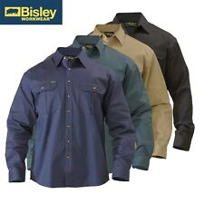 "BISLEY WORKWEAR - ""ORIGINAL"" COTTON DRILL LONG SLEEVE WORK SHIRT - BS6433"