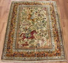 Traditional Vintage Wool Handmade Classic Oriental Area Rug Carpet 138 X 98 cm