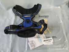 RABBITGOO Dog Harness No-Pull Pet Harness Adjustable Vest Blue Black Size Small