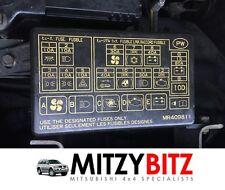 COMPARTIMENTO DEL MOTOR FUSIBLE & caja de relé TAPA MR409811 para MITSUBISHI