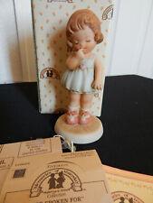 Memories Of Yesterday Figurine I'se Spoken For Girl w/Ring #520071 1988 Enesco