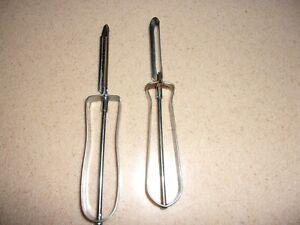 LOT 2 Vintage peelers vegetable Ekco  USA  metal Floating blade