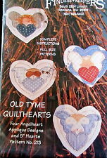 "Christmas Quilted ornament pattern Finders Keepers ANGEL 5"" hearts applique"