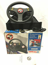 Retro COMPUSA Wheel Formula One Racing Simulator For PC.