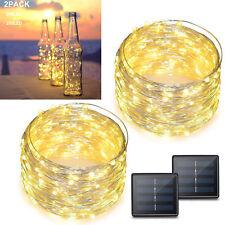 Solar String Lights 2-Pack 200 LED Christmas Light Fairy Decorative Warm 72ft