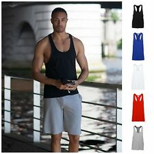 Mens Gym Muscle Vest Bodybuilding Plain Sleeveless Stringer Beach Holiday Top