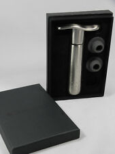 New listing Le Creuset Metal Wine Pump with 2 Stoppers, in Box