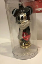 Mickey & Minnie Mouse snowman 2008 Glass ornament Disney store EXCLUSIVE NEW!!!