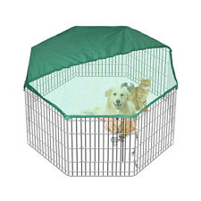"36"" + Cover Panel Pet Playpen Dog Cat Puppy Rabbit Fencing Exercise Enclosure"