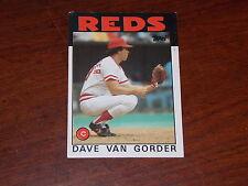 BASEBALL CARD 1986 TOPPS DAVE VAN GORDER #143