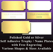 ENGRAVED TROPHY PLATE / METAL NAME PLAQUE / SPORTS AWARD / PICTURE FRAME / LABEL