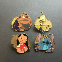 WDW Cast Lanyard Series - Lilo & Stitch - 4 Pin Set Disney Pin 28761