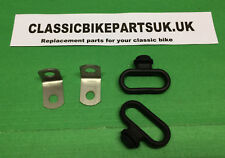 TRIUMPH T25S T25T TR5T 97-3682 119 PAIR BRAKE CABLE GUIDE AND BRACKET STAINLESS